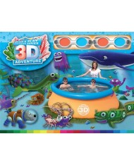 57244 PISCINA tonda GONFIABILE 213X66Hcm BESTWAY 3D adventure con occhiali 3d SPLASH AND PLAY