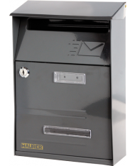 93941 - Cassetta postale SIGNAL Antracite con tetto per ESTERNI - POSTA  LETTERE rivista