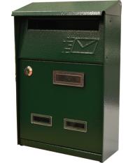 93943 - Cassetta postale SIGNAL Verde con tetto per ESTERNI - POSTA  LETTERE rivista