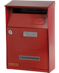 Cassetta postale SIGNAL Rosso con tetto per ESTERNI - POSTA  LETTERE rivista
