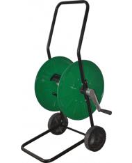 Avvolgitubo in Metallo 50mt verde - CARRELLO Papillon - avvolgitore tubo irrigazione -
