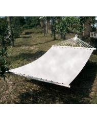 AMACA IN COTONE MATRIMONIALE 200X150 - COLORE BIANCO NATURALE -TRAVERSE IN LEGNO