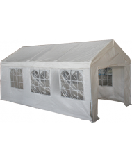 GAZEBO IN METALLO 3x6mt PARTY TENT CON PARETI PERIMETRALI
