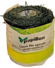 FILO SPINATO  PLASTICATO  MT 100 - 1,6-2,10 mm recinzioni ACCIAIO DOPPIO FILO