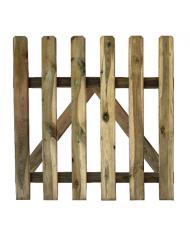 Cancelletto per recinto legno di pino cm 100x100h impregnato autoclave -cancello