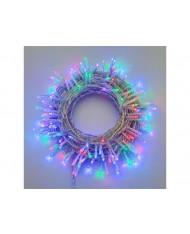 SERIE LUCI LED 360 led multicolor cavo trasparente esterni  25.7+4 METRi - albero di natale natalizie