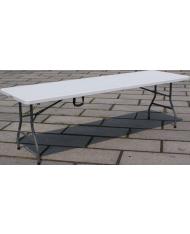 TAVOLO pieghevole - 182cm - mare picnic - IN PVC  CHIUDIBILE A VALIGETTA RESINA