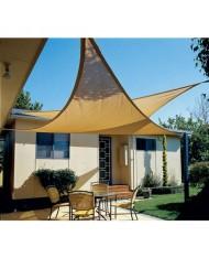 vela OMBREGGIANTE triangolare 3,6X3,6x3,6 MT ecrù- giardino telo copertura tenda