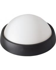 98310 - PLAFONIERA LED TONDA NERA LAMPADA APPLIQUE FARETTO MAURER
