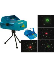 PROIETTORE luci laser natalizie da interno 2 colori 45mq 4 funzioni 99550