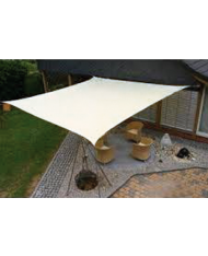 Vela OMBREGGIANTE QUADRATA - Bianca 5x5mt - giardino telo copertura tenda