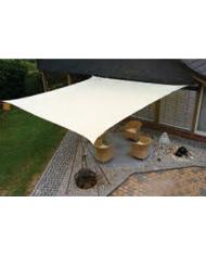 Vela OMBREGGIANTE QUADRATA - Bianca 3,6x3,6mt - giardino telo copertura tenda