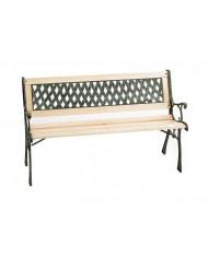 PANCHINA IN legno e ghisa - 64x120x80 cm