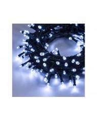 SERIE LUCI LED 450 led LUCE BIANCO FREDDO esterni 18.5 m+2 m cavo - albero di natale natalizie