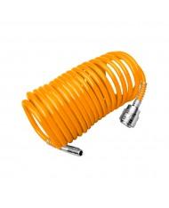 Tubo spiralato 10mt per compressore utensili ad aria pneumatici