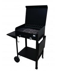 Barbecue a gas 5,5kw 2 fuochi Made in Italy mod Zeus by MILEE CON PIETRA LAVICA - BBQ ARTIGIANALE