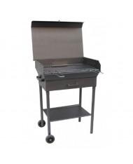 Barbecue artigianale tipo extra pesante 70x40cm - peso 33kg - con coperchio Mille