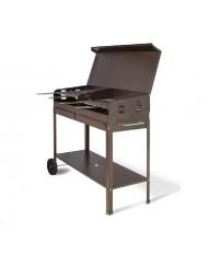 Barbecue artigianale tipo pesante 100x40cm POLIFEMO - peso 32kg - con coperchio Artigianferro made in Italy
