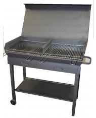 Barbecue artigianale tipo extra pesante 100x40cm - peso 60kg - con coperchio Mille
