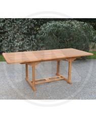 """TAVOLO in legno ESTENSIBILE """" CABRERA """" 160/210X90X75H CM IN TEAK GIARDINO CASA"""