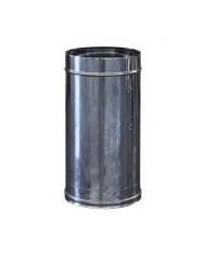 canna fumaria per camini  H 25 CM DIAMETRO 25 INOX