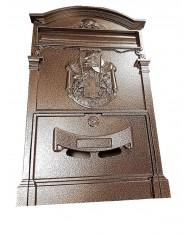 CASSETTA  POSTA ALLUMINIO bronzo martellato ROYAL PER ESTERNI  POSTALE LETTERE