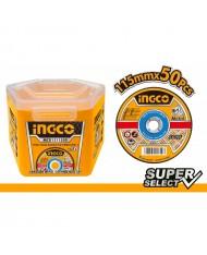 50pz - DISCO MOLA DA TAGLIO mm115x1,2 per smerigliatrice angoalre - MULTIPACK INGCO MCD1211550