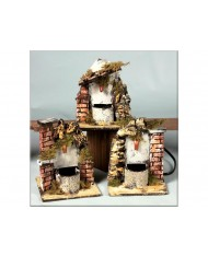 10508 Fontana con pompa per presepe - varie misure assortite - natale