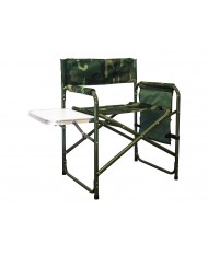 Sedia Poltrona regista con tavolino e sacca portaoggetti camouflage MIMETICA
