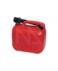 TANICA IN PVC CON FLESSIBILE PER COMBUSTIBILI 5LT motosega campagna benzina