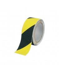 NASTRO ANTISCIVOLO AUTOADESIVO giallo nero  MM 50 MT 18 IN ROTOLO