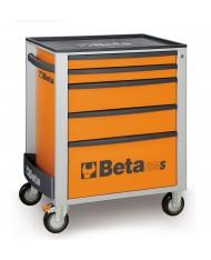 Carrello cassettiera Beta Tools C24S 5/O portautensili 5 cassetti arancio mobile