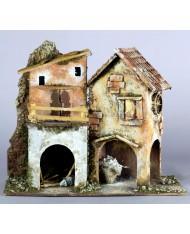 11300 Casolare casa per presepe cm28x15x24 - Artigianale NATALE