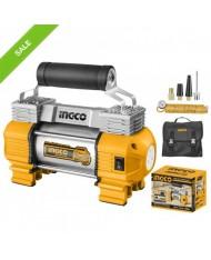 Compressore per Auto 12V 18Ah 150PSI INGCO Con Torcia LED e ACCESSORI