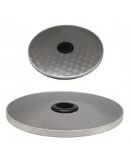 Mensola 400xH20 mm appoggio per termopatio con palo d.56 mm fungo gas INOX STUFA FUNGO