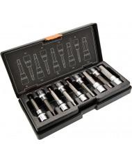 Set chiavi esagonali con bussola 9pz - 4-17mm x 100mm - 08-706 NEO TOOLS