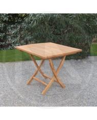 """TAVOLO in legno TIPO PESANTE  """" LANZAROTE """" 90X90X75H CM IN TEAK GIARDINO CASA"""