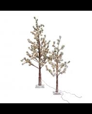 Albero di natale innevato 99 LED 120cm REALISTICO NATALIZIO