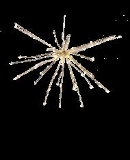 Stella glitterata con 150 led ø70cm  - Stella addobbo natalizio