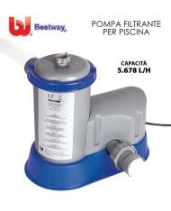 POMPA  FILTRANTE PER PISCINA FILTRO -- 5678 lt/H-- BESTWAY - filtraggio 58389