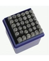 Set punzoni alfanumerici 36pz da 6mm - LETTERE + NUMERI