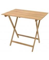 Tavolo tavolino pieghevole richiudibile in legno naturale 80x60 cm campeggio