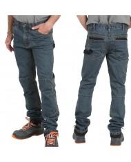 Beta Work 7526 - tgL - Jeans tecnico da lavoro slim fit pantaloni elasticizzati tasche