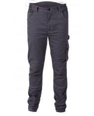 TG S - Pantaloni da lavoro Beta Work 7816ST lunghi elasticizzati slim fit con tasche