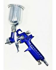 MINI AEROGRAFO HVLP  CON SERBATOIO SUPERIORE - in acciaio - 120cc- Ugello 1mm