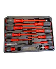Set 11 cacciaviti ISOLATI da elettricista 1000v in valigetta