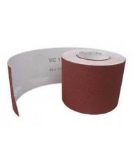 GRANA 100 - Carta abrasiva velcrata - rotolo da 5mt - al corindone rosso - con Velcro