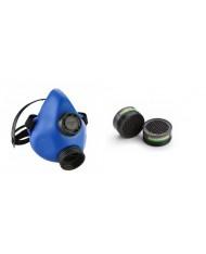 MASCHERA RESPIRATORE con 2  FILTRI EURMASK per polveri gas nocivi sanificazione MADE IN ITALY