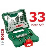 Valigetta in plastica con serie punte e inserti bosch 34pz.  X-33 019325