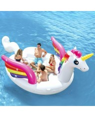Intex 57266 Mega Isola Party Unicorno galleggiante